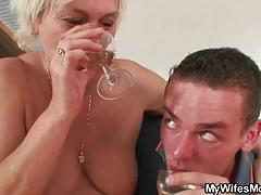 Mature blonde gets banged by a horny stud