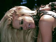 Blonde bitch jessica drake fucked in all her holes