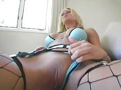 Beautiful blonde chick pounded by big cock