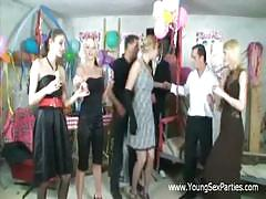 Young russians homemade fuck party