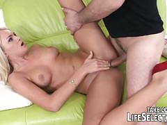 He discovers she plays in porn and fucks her ass