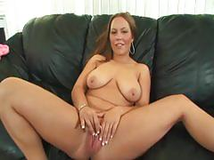 Busty brunette drilled by black cock