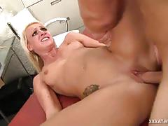 Bootyful sexy milf is getting fucked deep and hard