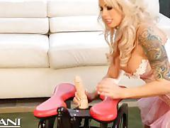 Blonde babe brooke haven having some fun with toys