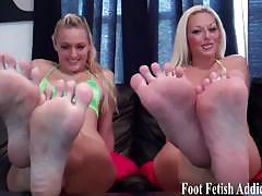 Sexy mistresses demand foot worship