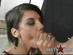 Bonnie rotten smoking blowjob