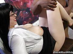 Larkin love interracial footjob