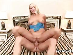 Horny blonde milf assfucked