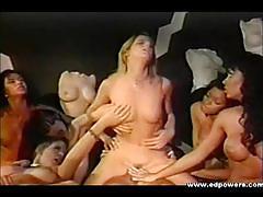 Hot retro old school babes fantastic orgy