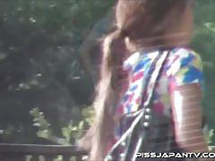 Pervert guys spy cam on asian babes taking a piss
