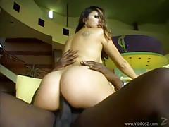 Kaylynn enjoys huge black dick on her tight ass