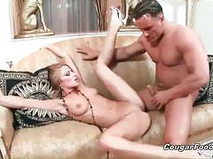Awesome blonde milf gets fucked deep and hard