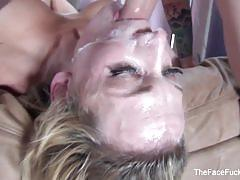 Hard pov face fucking session with this blonde