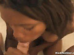 Black brunette belle gives a great pov blowjob