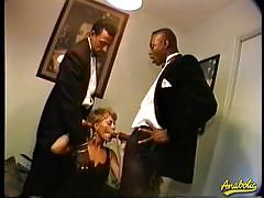 Blonde milf abby in hot threesome interracial