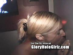 Amateur alanna giving head at glory hole