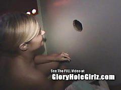 Amateur alanna giving head at glory hole