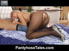 Denis gets nailed with pantyhose on