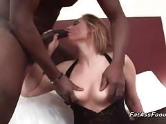 Bbc fuck for this horny milf in black stockings