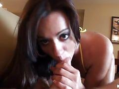 Hot brunette mandy haze gets banged pov style