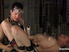 Blonde slut dungeon tortured