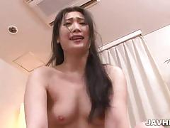 Asian brunette gets viciously dped into heaven