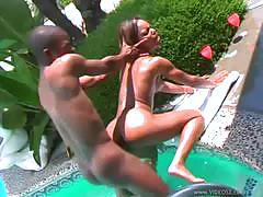 Marie luv takes a bbc in the pool