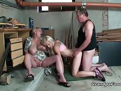 Teen enjoys a threesome with a mature couple