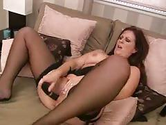Mature babe carol foxwell toying her shaven cunt