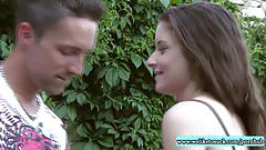 Blowjob in the garden