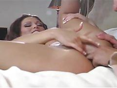 Hot milf spreads her legs in hardcore fucking
