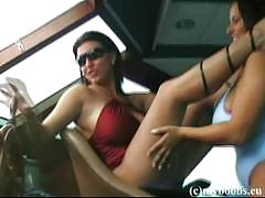 Aneta buena and kora kryk go lesbo at the boat