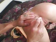 Ass addiction with toys and cock for blonde
