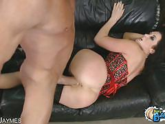 Busty big butt jayden james fucked by a big cock.