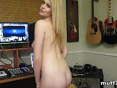Cute allie james striptease