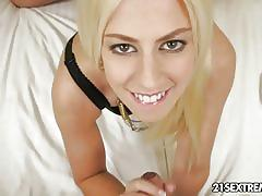 Blonde teen jessie volt pumped hard by a big cock.