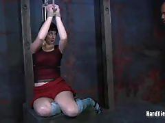brunette, big tits, busty, bdsm, bondage, big boobs, torture, humiliation, dungeon, painful