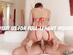 Punk girl alby rydes's footjob and pussy nailing