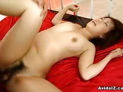 Yui komiya gets hairy pussy drilled