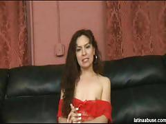 Lorena can't take cock in her throat for too long