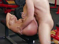 Nina elle fucks her trainer