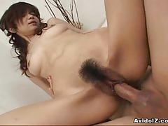 Fucking aimi nakatani's hairy pussy
