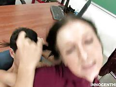 Sexy brunette teen ashli orion gets banged hard