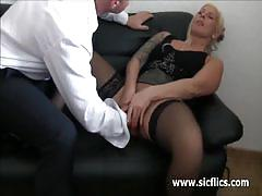 Bossy milf gets fisted by an interviewee