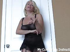 Sexy dominant neighbors demanding to eat your cum