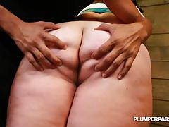 Obese slave eliza allure tied up and exploited