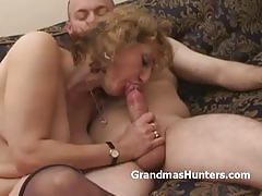 Amateur granny fucked hard
