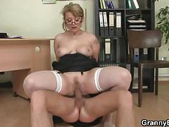hardcore, big tits, blonde, busty, czech, reverse cowgirl, european, secretary, boss, granny