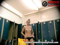 Hidden camera in the dressing room