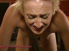Fisted blonde licks pussy